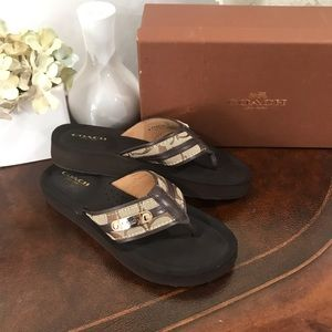"Authentic Coach ""Jodee"" flip flop sandal Size 5"